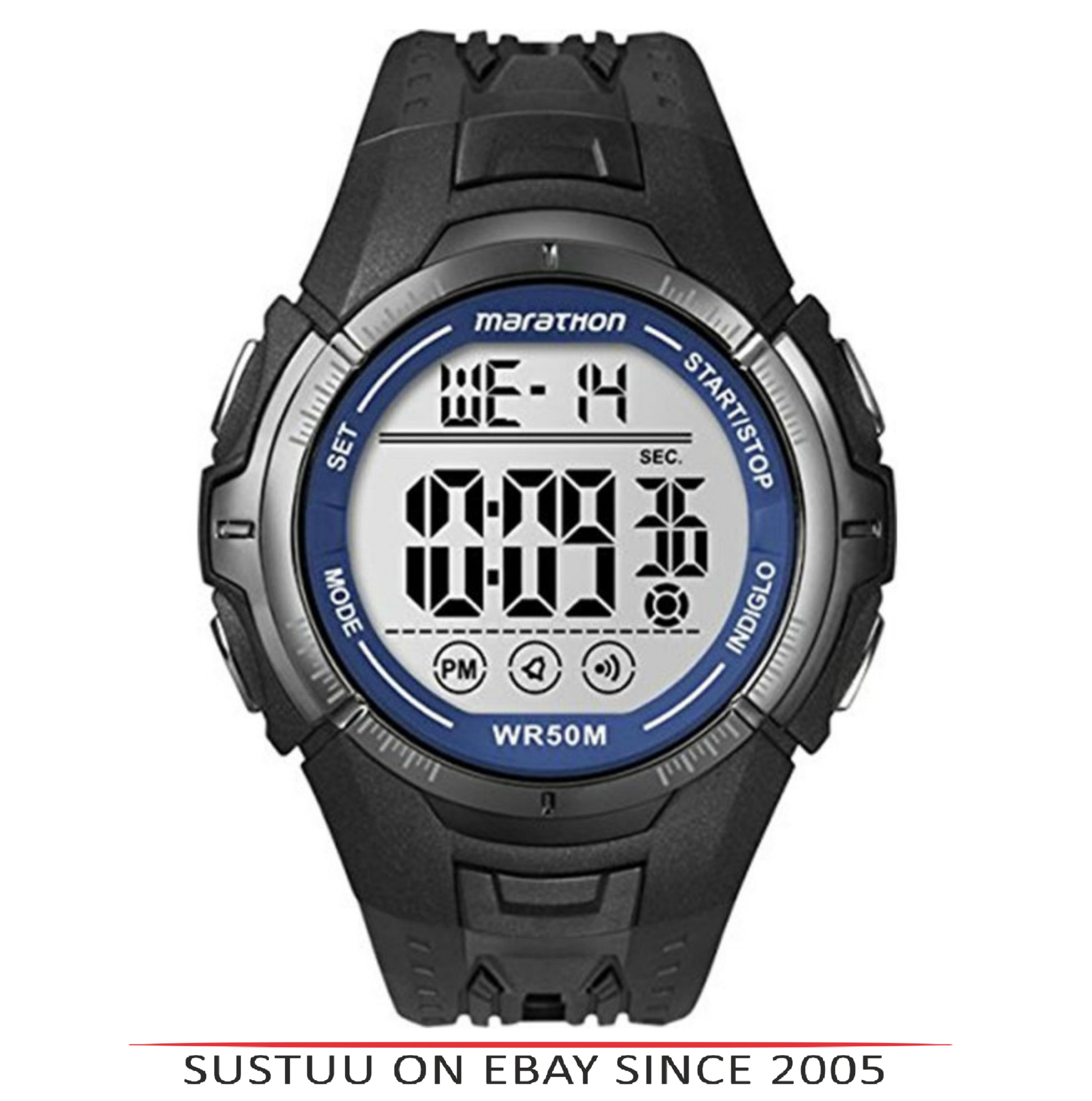 862ef032b7a9 Sentinel Timex T5K359 Mens Ironman Marathon Digital Sports Black Running  Watch Brand New
