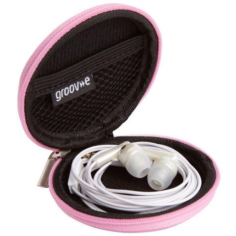 Groov-e GVEC1PK Zip Up EVA Carry Case for Earphones Cables Memory Cards - Pink  Thumbnail 3