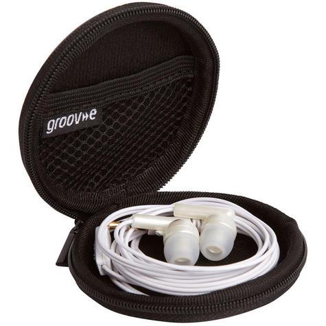 Groov-e Zip Up EVA Carry Case for Earphones - Black  GVEC1BK Thumbnail 3