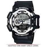 Casio GA-400-1AER G-Shock Classic Men's Quartz Analogue Watch|Resin Band|Black|