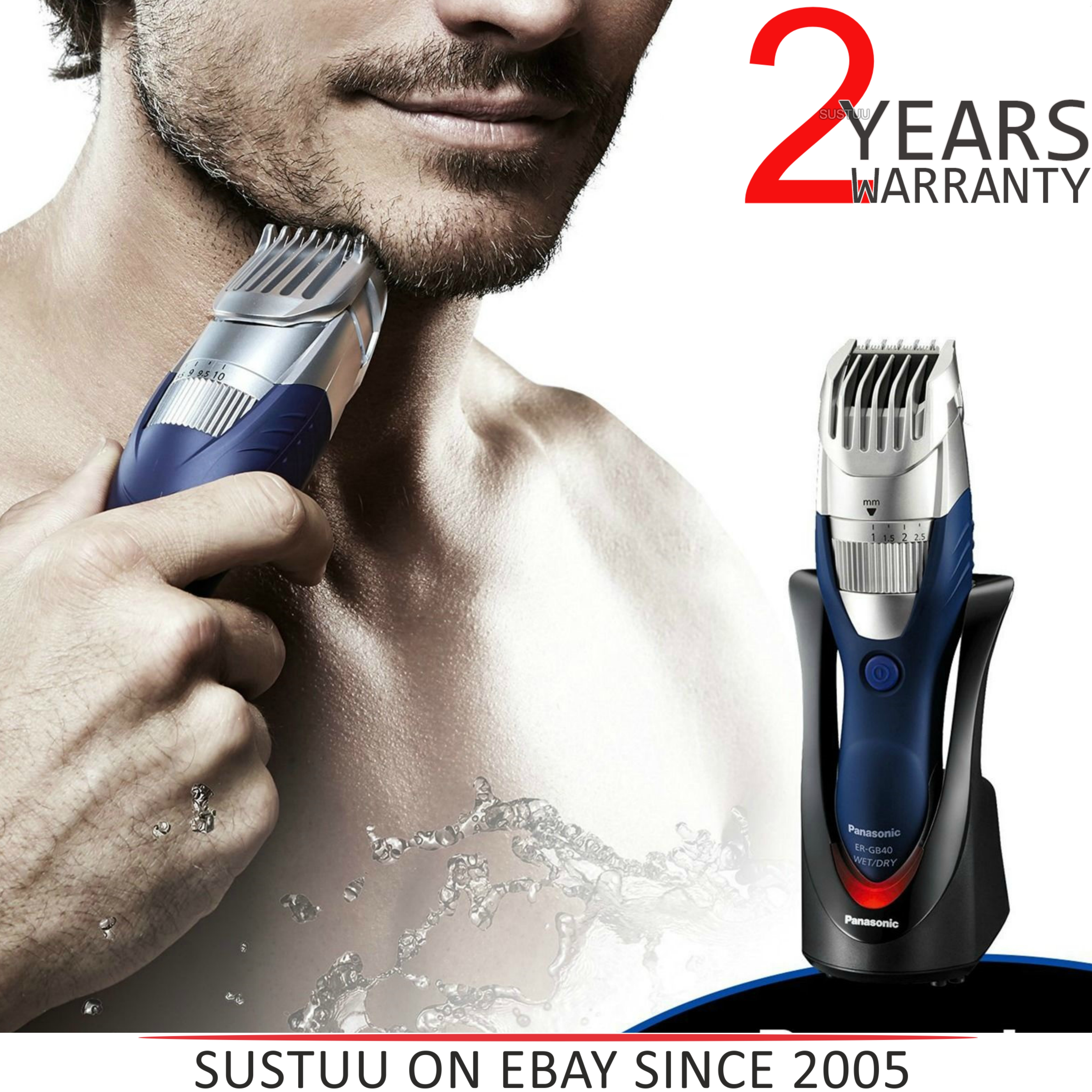 Panasonic ERGB40S?Wet/Dry?Washable?Men's Hair Beared Cordless Clipper Trimmer?