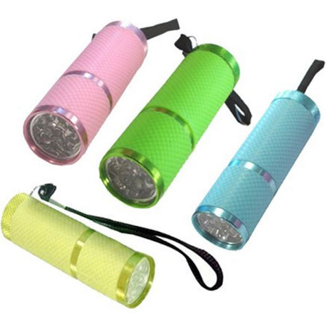 Infapower Glow In The Dark - 9 LED Torch (Pack of 12) Pocket/Portable  F007 Thumbnail 2