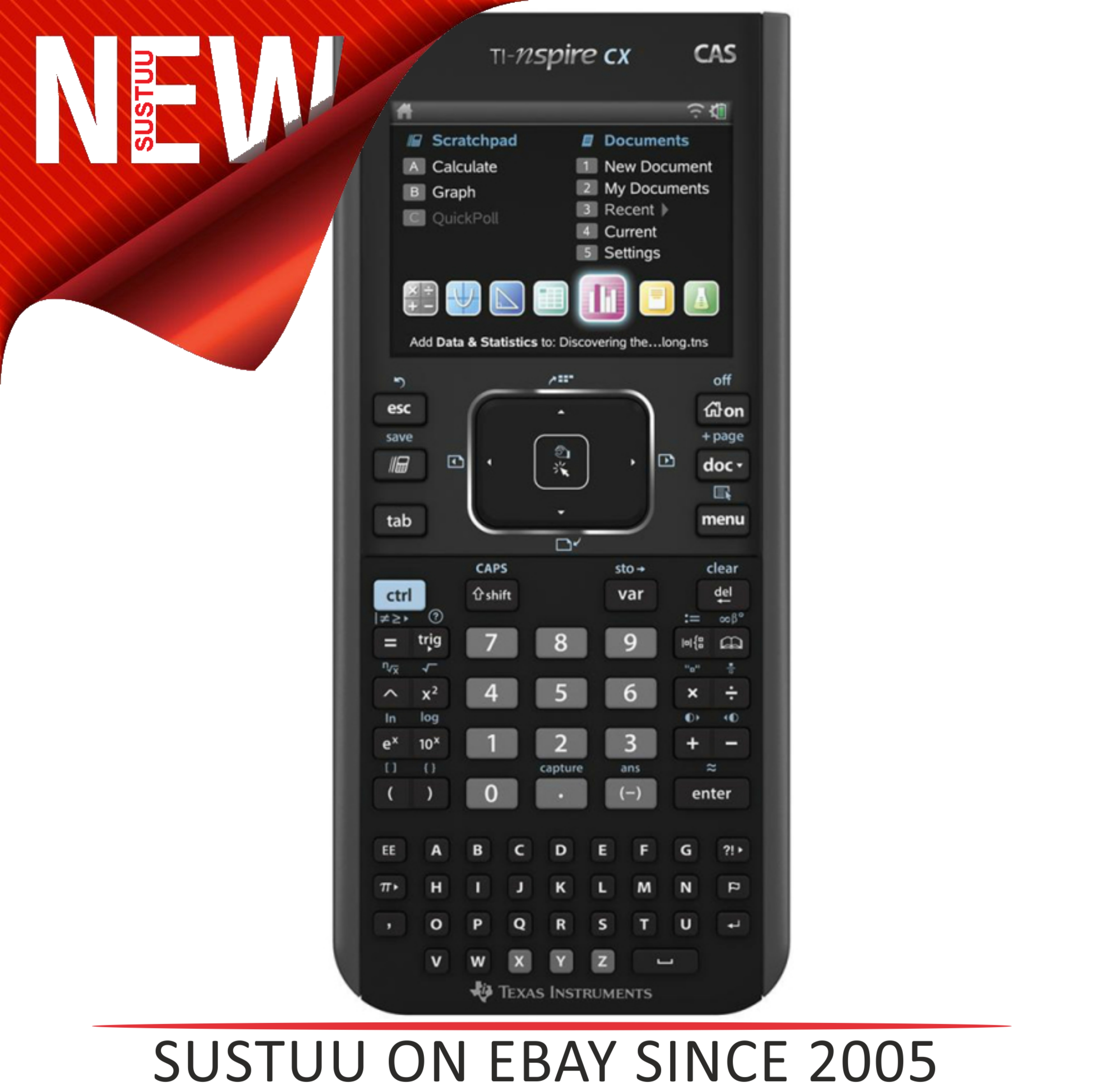 Texas Instruments NSPIRE CX-CAS Graphic Calculator with Touchpad N3CASTBL2E7
