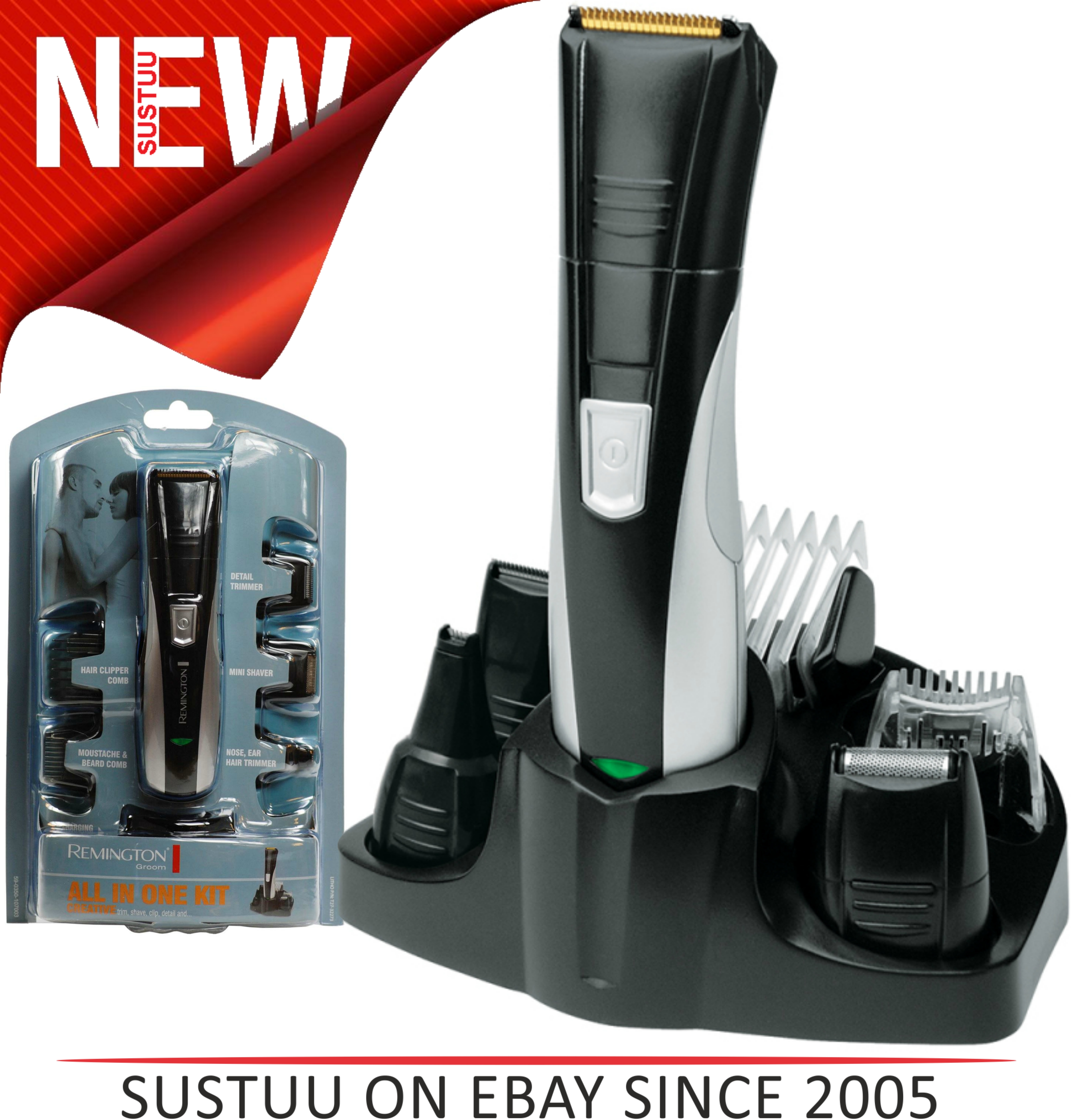 Remington PG350 Rechargeable Nose Nasal Hair Ear Trimmer Shaver Grooming Kit NEW