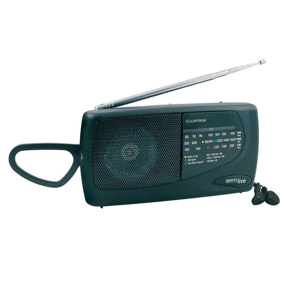 Lloytron N736 3 Band Portable Radio|Telescopic Antenna|Earphone socket|FM|MW|LW|