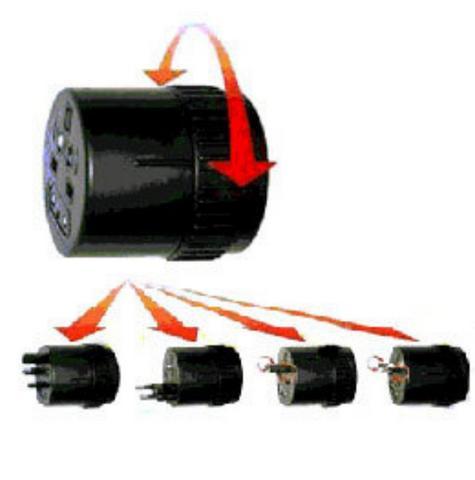 Value Range 21125 International Travel Adaptor?5A Max (120V-600W/240V-1200W)? Thumbnail 1