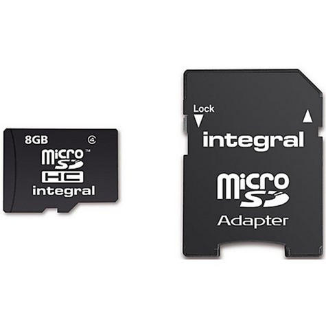 Integral Micro SD Card 8GB With 5 Year Warranty & SD Adapter-Class 4 MICROSD8GB Thumbnail 1