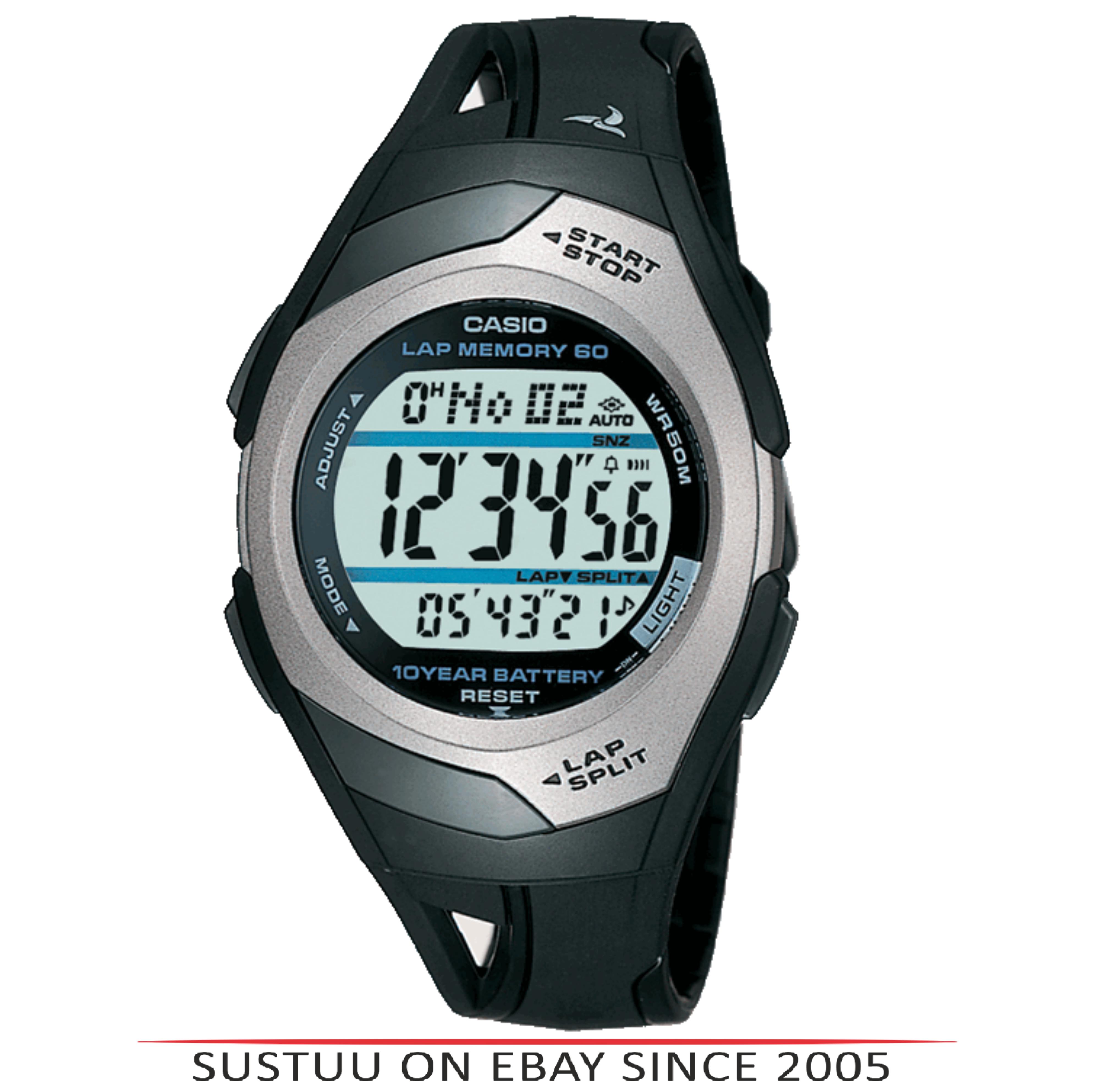716c5804933e Sentinel Casio STR300C-1VER o Mens Watch│60 Lap Memory Timer│Resin Band│