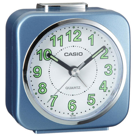 Casio Alarm Clock with Light and Snooze - Blue Analog Luminous Hand TQ143S-2 Thumbnail 1