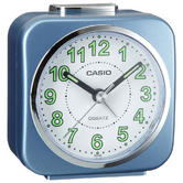 Casio Alarm Clock with Light and Snooze - Blue Analog Luminous Hand TQ143S-2