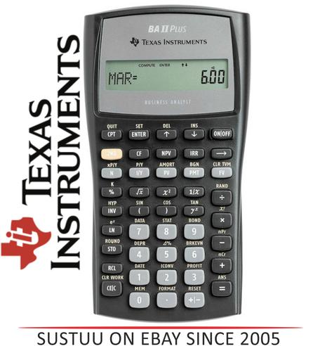 Texas Instruments BAII PLUS Advanced Financial Calculator IIBAPLTBL3E2 NEW Thumbnail 1