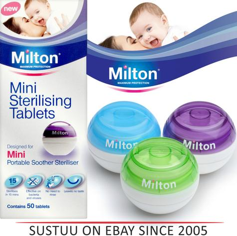 Milton Mini Portable Soother Steriliser or 50 Tablets Starting From £3.99 Thumbnail 1