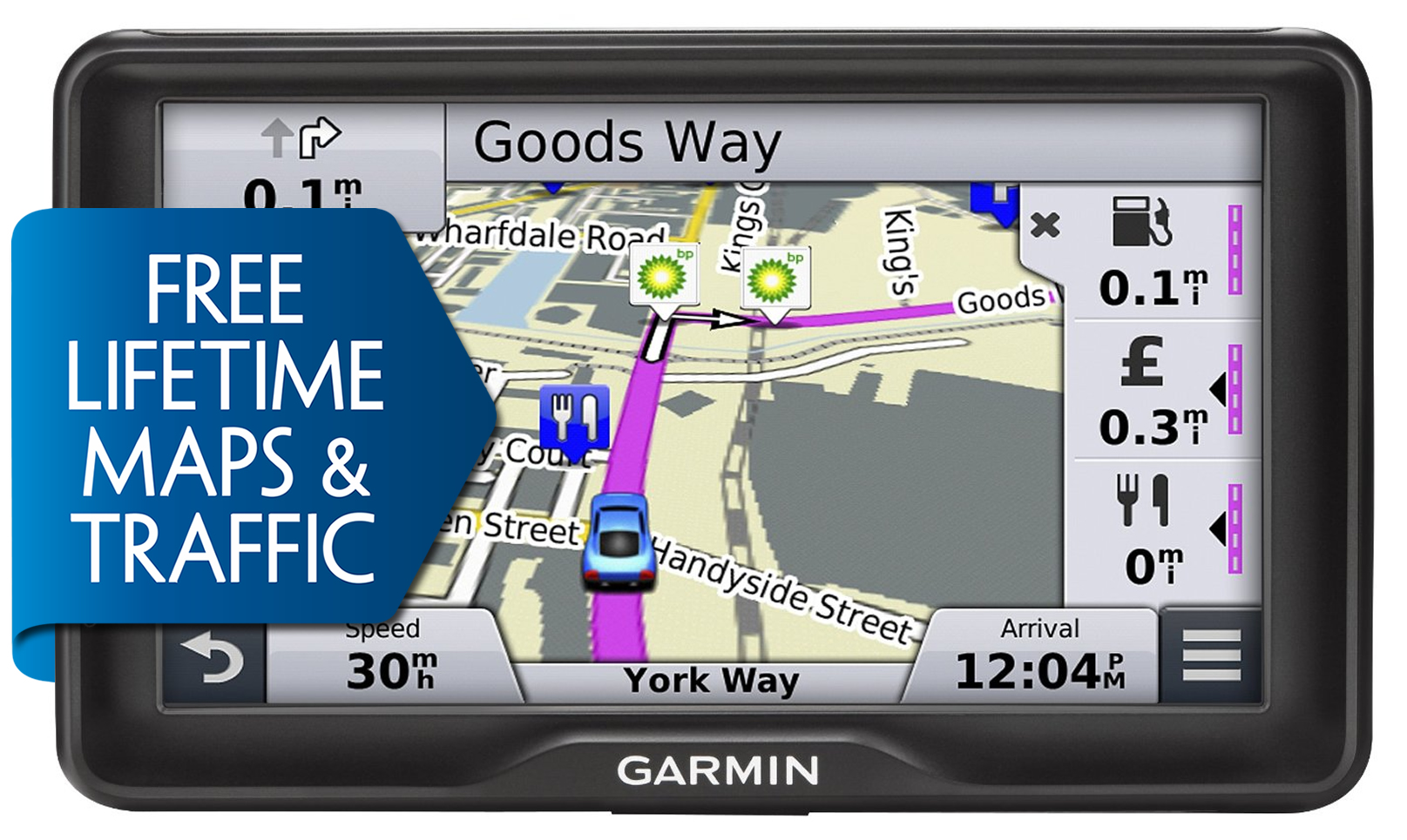 Garmin Nuvi Lmt  Gps Satnav Uk Europe Free Lifetime Mapstraffic Bluetooth