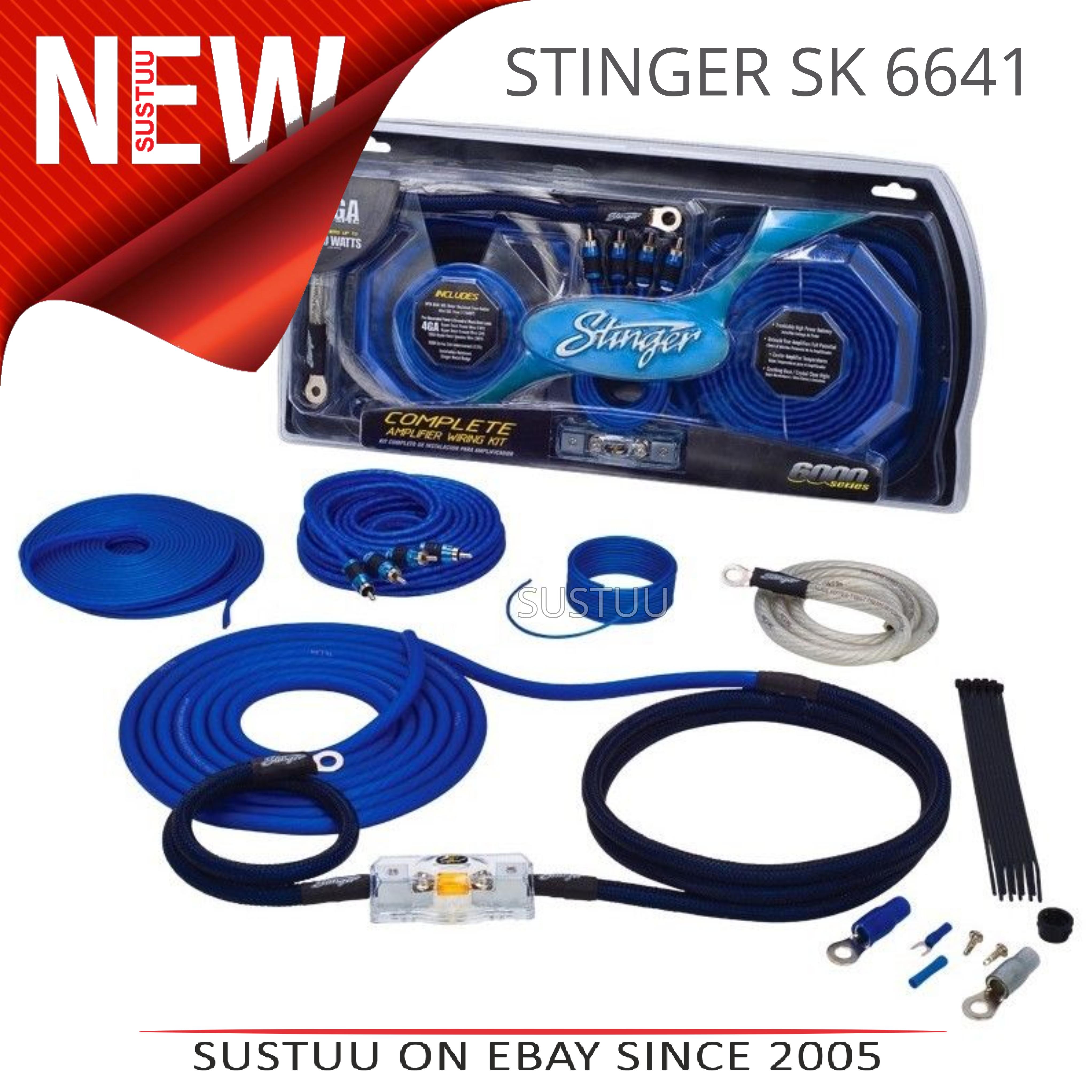 Hot 4 Gauge Amp Wiring Kit Images Wire Data Premium Power 3000w Anl Install Car Amplifier Stinger Audio Awg 6000 Series Rh Ebay Com Au
