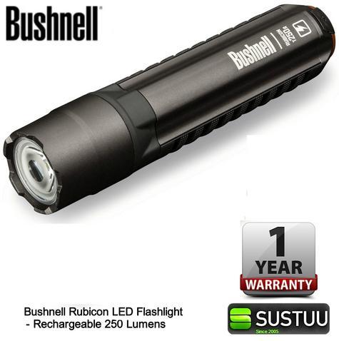 Bushnell Rechargeable Rubicon LED Flashlight 250 Lumen Torch 060-10R250ML Thumbnail 1