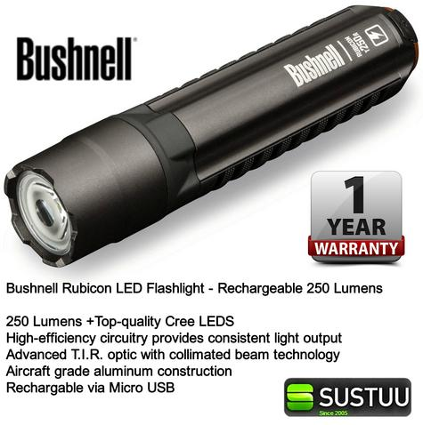 Bushnell Rechargeable Rubicon LED Flashlight 250 Lumen Torch 060-10R250ML Thumbnail 3