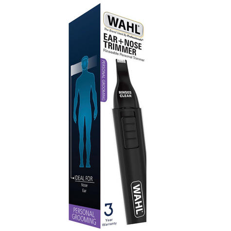 Wahl WET/DRY Battery Included Nasal Nose Ear Eyebrow Trimmer Groomer Clipper  Thumbnail 2