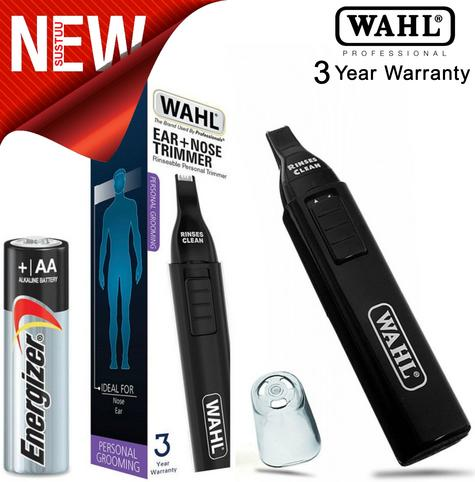 Wahl WET/DRY Battery Included Nasal Nose Ear Eyebrow Trimmer Groomer Clipper  Thumbnail 1
