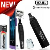 Wahl WET/DRY Battery Included Nasal Nose Ear Eyebrow Trimmer Groomer Clipper