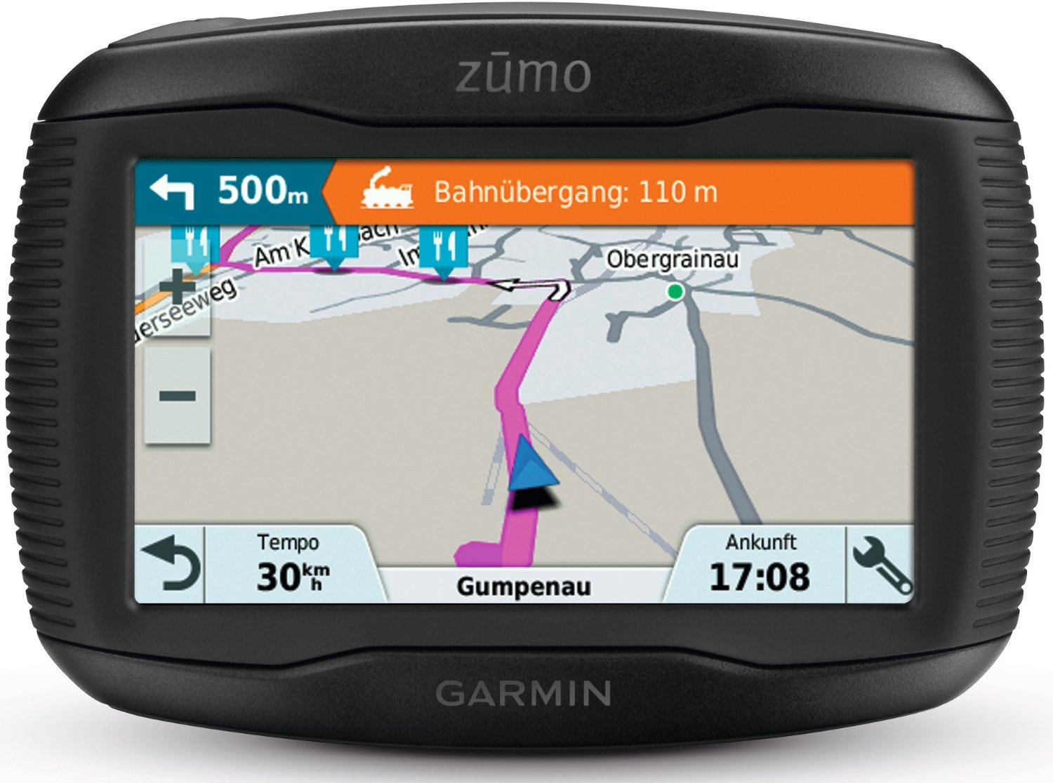 garmin zumo 345lm uk weurope gps satnav motorcycle bluetooth lifetime map update ebay. Black Bedroom Furniture Sets. Home Design Ideas