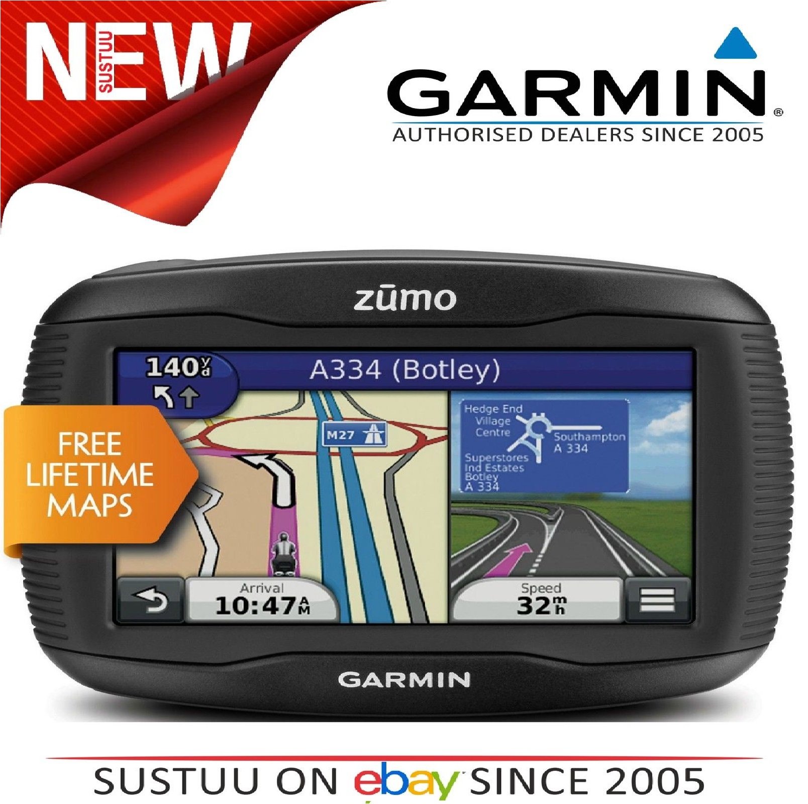 garmin zumo 345lm uk weurope gps satnav motorcycle bluetooth lifetime map update sustuu. Black Bedroom Furniture Sets. Home Design Ideas