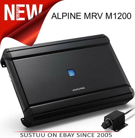 Alpine Mono 1Channel Car Subwoofer Amplifier?RUX-KNOB?Class D?1200W?MRV-M1200 Thumbnail 1