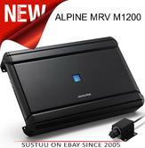 Alpine Mono 1Channel Car Subwoofer Amplifier?RUX-KNOB?Class D?1200W?MRV-M1200