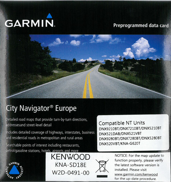 Kenwood KNA SD18|SD-Card 2017 Map Update|For DNX 2014