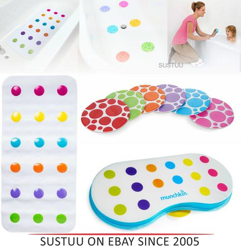 Munchkin Temperature Heat Sensitive 6 Grippy Dot Child Safety Non-Slip Bath Mat Thumbnail 1