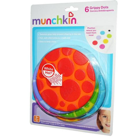 Munchkin Grippy Dots Temperature Heat Sensitive Non Slip Child Safety Bath Mat Thumbnail 4