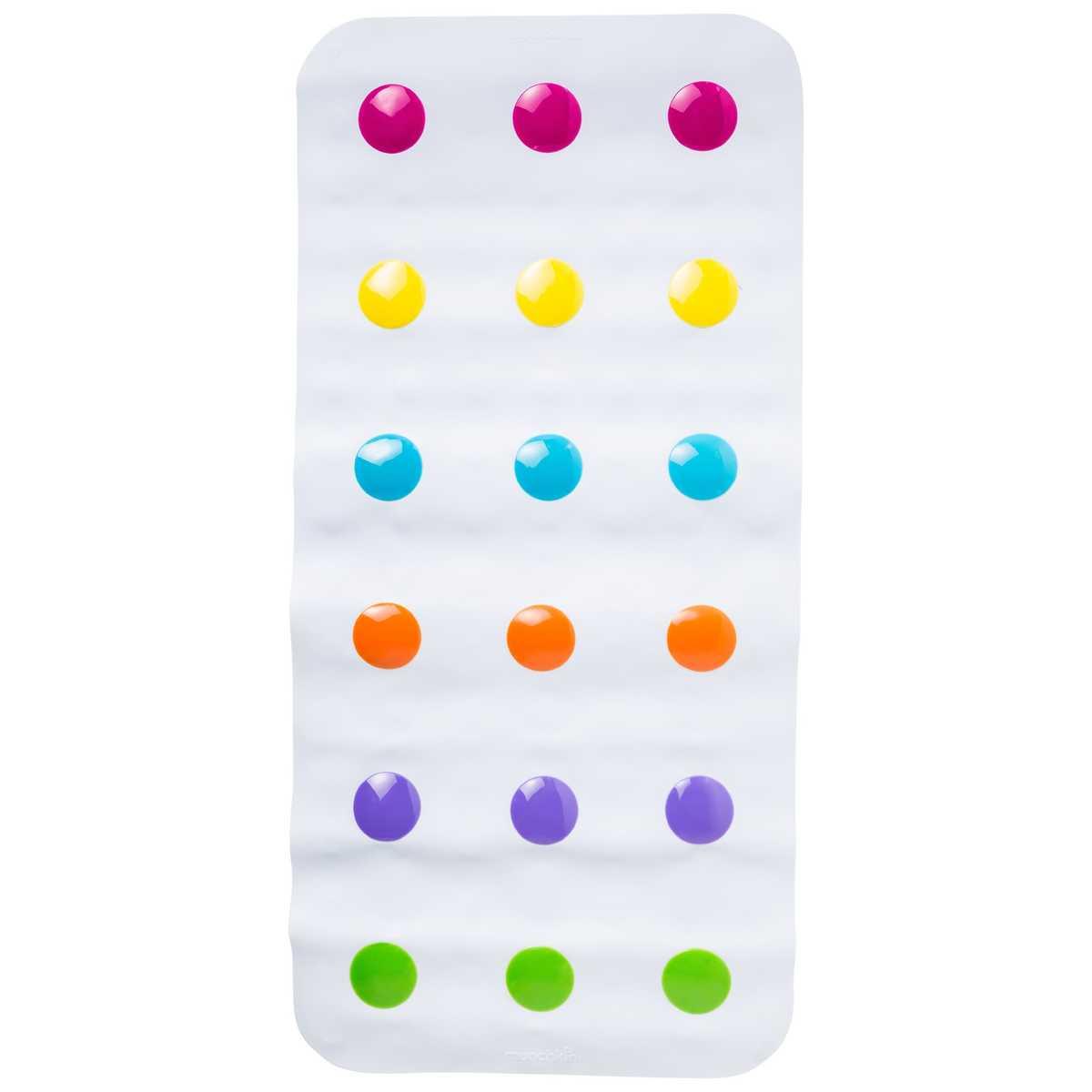 Munchkin Children Bathtime Safety Non-Slip Dandy Dots Toddler Bath Colourful Mat
