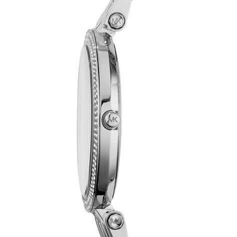 Michael Kors Darci Pave Salmon Pink & Silver Tone Ladies Designer Watch MK3352 Thumbnail 3
