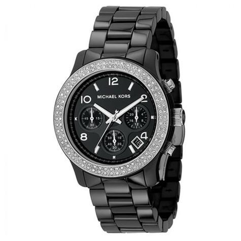 Michael Kors Ladies' Black Ceramic Bracelet Round Dial Designer Watch MK5190 Thumbnail 2