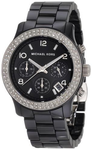 Michael Kors Ladies' Black Ceramic Bracelet Round Dial Designer Watch MK5190 Thumbnail 4