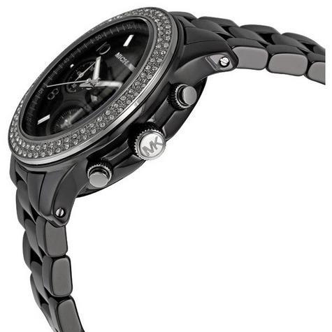 Michael Kors Ladies' Black Ceramic Bracelet Round Dial Designer Watch MK5190 Thumbnail 3