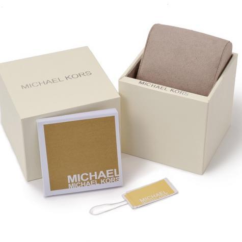 Michael Kors Ladies Wren Pave Blue Face Gold Tone Chrono Round Dial Watch MK6291 Thumbnail 4
