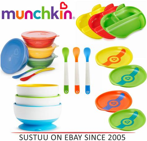 Munchkin Self-Feeding Toddler Bowls/ Heat Sensor Plates/ Feeding Spoon Thumbnail 1
