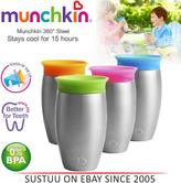 Munchkin Miracle 360° Stainless Steel Sippy Cup?296ml?12m+ Baby?Stays Cool 15hr