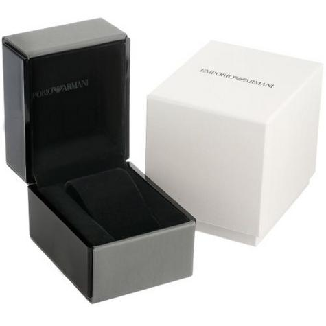 Emporio Armani Classics Series Stainless Steel Gents Square Face Watch AR0145 Thumbnail 5