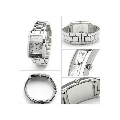 Emporio Armani Classics Series Stainless Steel Gents Square Face Watch AR0145 Thumbnail 2