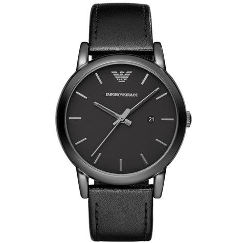 Emporio Armani Classic Gent's All Black Ion Plated Steel Round Dial Watch AR1732 Thumbnail 1