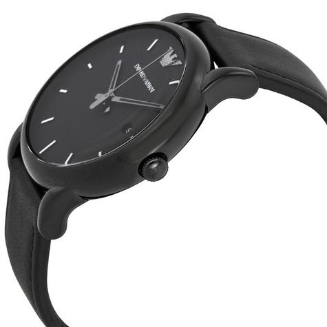 Emporio Armani Classic Gent's All Black Ion Plated Steel Round Dial Watch AR1732 Thumbnail 2