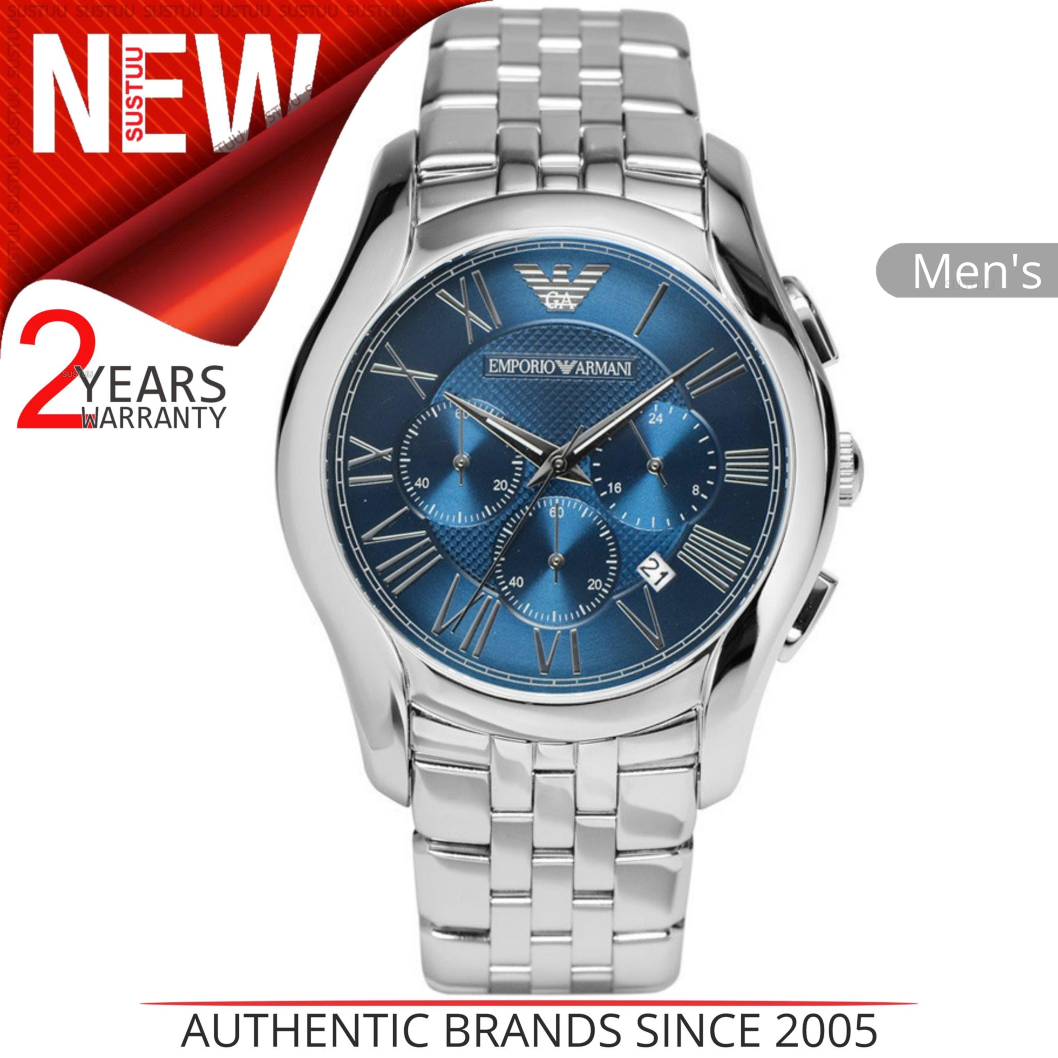 fb2f6e9de6d Details about Emporio Armani Classic Men s Watch│Chronograph Navy Blue Dial │Stainelss│AR1787