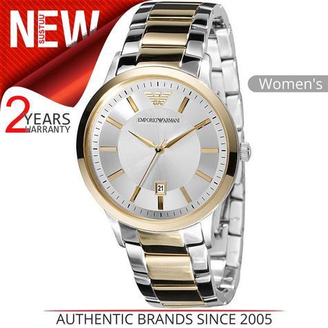 Emporio Armani Ladies' Formal Watch|Round Dial|Dual Tone Bracelet Band|AR2450 Thumbnail 1