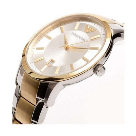 Emporio Armani Ladies' Gold & Silver Tone Stainless Steel Designer Watch AR2450 Thumbnail 3