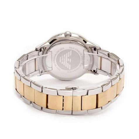 Emporio Armani Ladies' Gold & Silver Tone Stainless Steel Designer Watch AR2450 Thumbnail 4