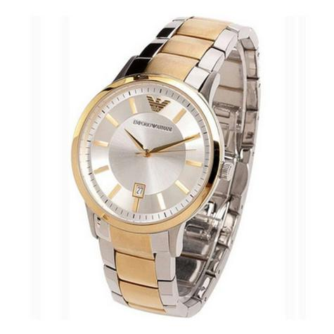 Emporio Armani Ladies' Gold & Silver Tone Stainless Steel Designer Watch AR2450 Thumbnail 2