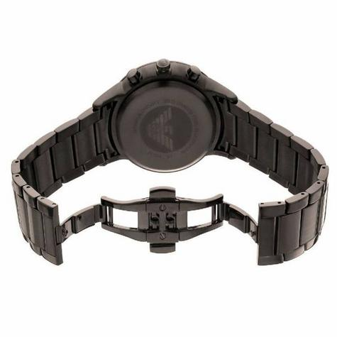 Emporio Armani Classic Gent's Chronograph Gunmetal Tone Bracelet Watch AR2454 Thumbnail 4
