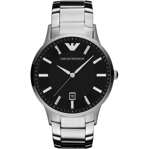 Emporio Armani Gent's Black Dial Stainless Steel Classic Sportivo Watch AR2457 Thumbnail 1