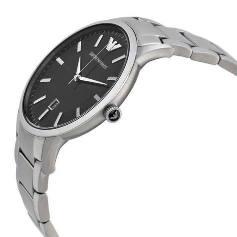 Emporio Armani Gent's Black Dial Stainless Steel Classic Sportivo Watch AR2457 Thumbnail 2